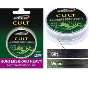 Поводковый материал Climax Cult Heavy Hunters Braid, 30 lbs/15 кг, 20 m weed